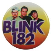 Blink 182 - 'Group Orange' Button Badge